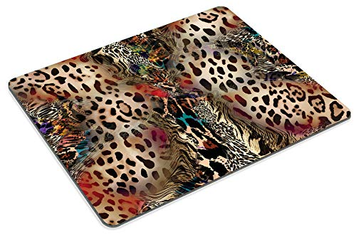Smooffly Leopard Print Mouse Pads for Women,Abstract African Animal Leopard Wildlife Retro Personality Desings Gaming Mouse Pad 9.5 X 7.9 Inch (240mmX200mmX3mm) Photo #5
