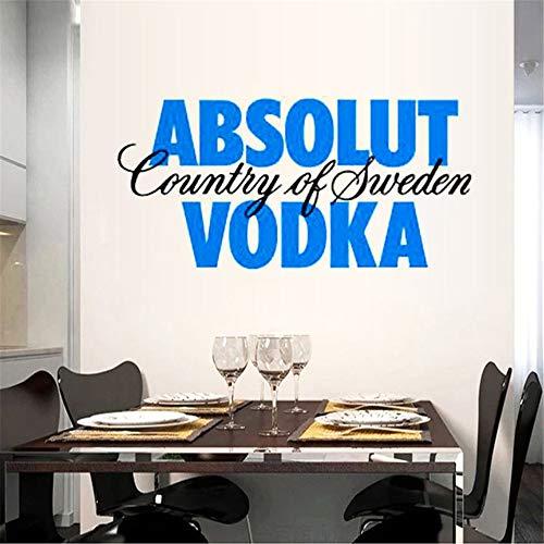 Vodka Restaurant Kitchen Absoluut Country of Sweden Wodka Home Decor Muursticker 3D Kinderen 53.3 x 30.5 cm