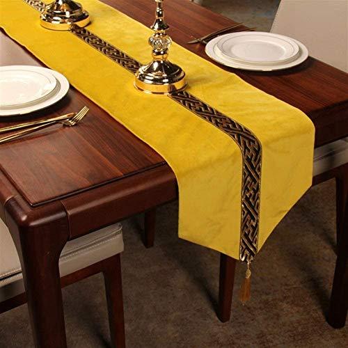 Table Runner Coffee Table Tablecloth Modern Minimalist Cotton Linen Tea Flag Cloth Table Runner Home Christmas Party Restaurants,Yellow,33160cm