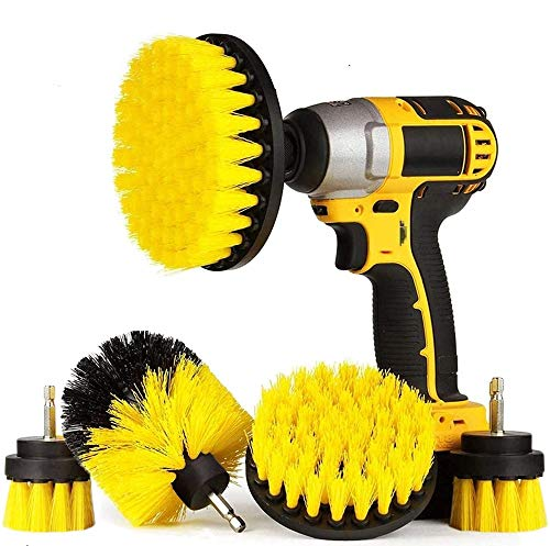 Drill Brushes Brush Attachment - 5 Pack Electric Drill Brush Kit - Great for Pool Tile, Bathroom Toilet, Ceramic Marble Car Automotive