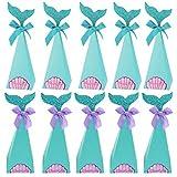 Hemoton Meerjungfrauen-Party-Boxen mit 40 Stück Geschenkboxen in Form einer Meerjungfrau,...
