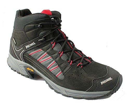 Meindl Multifunktionsschuh Sx 1.1 Mid GTX, Chaussures de Randonnée Hautes Homme, Noir (Noir/Rot 030), 40 EU