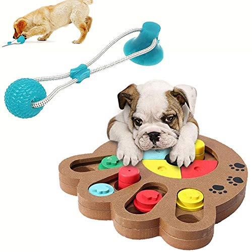 LXB Puzzle Feeder Dog Toy Set, Interactive Game Box for Puppy to Dispensing Treats, Puppy Seek FoodTraining Increase IQ, Dogs Puzzle Toys, Wooden Fun Feeding Multi-Functional Interactive Dog Toys