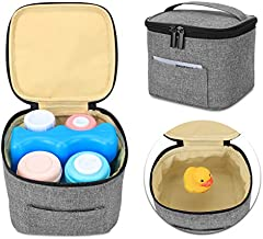 Luxja Breastmilk Cooler Bag (Hold Four 5 Ounce Breastmilk Bottles), Leakproof Breast Milk Cooler for 4 or 5 Ounce Bottles (Bag Only), Gray