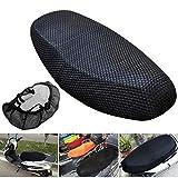 dDanke Hitzebeständiger Atmungsaktiver Motorradschutz-Sitzbezug Anti-Rutsch-strapazierfähiger Netzbezug für Fahrrad Motorradstuhl