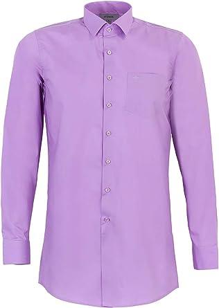Stenser C78-9 - Camisa clásica para niño, Color Morado Morado ...