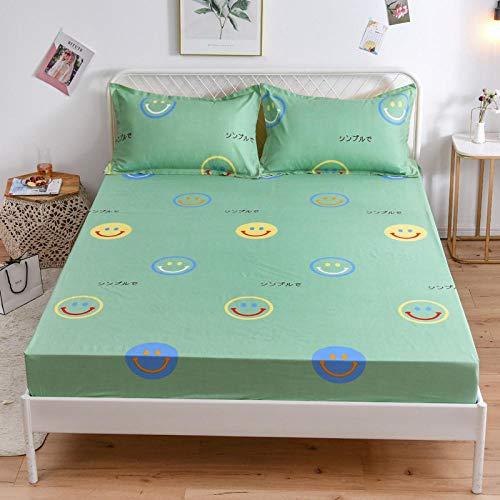 HPPSLT Alèse Matelas en Bambou Doux Respirable Drap de lit Simple en Coton aloès antidérapant-4_150 * 200cm