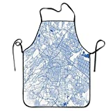 Mexico Design-Funny Design Apron Personalized Kitc Restaurant Pinafore with Neck Strap Chef Home Barber Kitchen Gardening