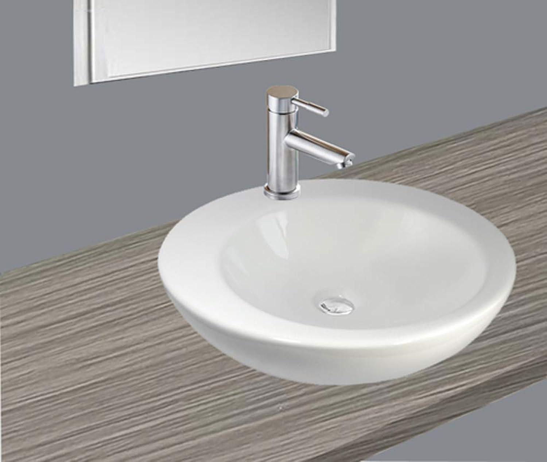 1 Ceramic Washbasin Round Circle 46 cm L 46 cm W