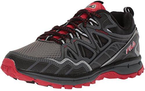 Fila Memory TKO Tr 5.0 - Zapatillas de correr para hombre, Gris (Castlerock/Sombra Oscura/Fila Rojo), 47 EU