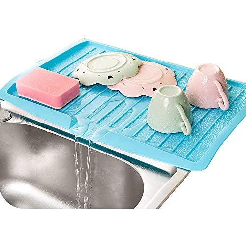 Égouttoir à vaisselle en plastique pour plan de travail - Blanc/noir/bleu/rose/vert, couleur aléatoire