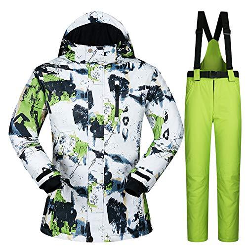 Yeah-hhi Traje de esquí para mujer, juego de chaquetas y pantalones de esquí, resistente al viento, impermeable, para esquí, camping, 6, M