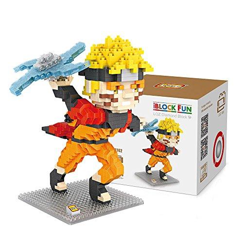 Loz 9742. Kit de construccion miniaturizada. Naruto. 690 piezas