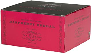 Harney & Sons Raspberry Tea Bags, Herbal, 50 Count, Red