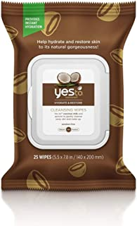 Yes To Coconuts Ultra Hydrating Cleansing Facial Wipes (30 Count) – Facial Wipes for Dry Skin, Gentle, Coconut Water, Coco...