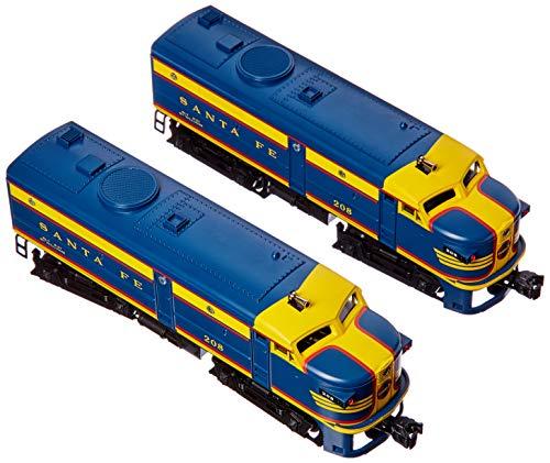 Williams by Bachmann Santa Fe #208 Alco Fa-2 Powered & Dummy A-A Train Set (O Scale), Blue/Yellow