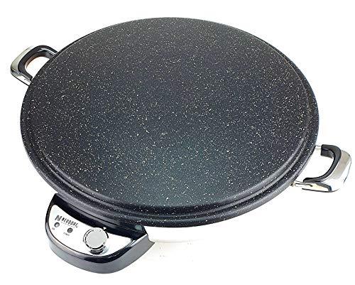 Neudorf Alemania Fladen Panadero (superficie de diámetro Back de 2300 W 50 cm)/regulador de temperatura (con termostato) 50 °C – 265 °C/Sac Crêpes crepes yufka katmer tapas
