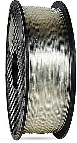 3D filament 1,75 mm TPU rubber gummi transparent 800g 1.75mm 3D Druck (transparent)
