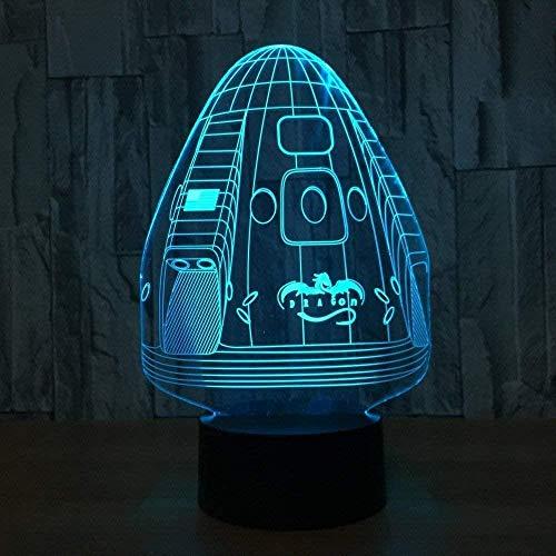Mesa de estudio espacio cápsula color adecuado mesa bebé niños visión 3D luz nocturna creativa regalo de vacaciones