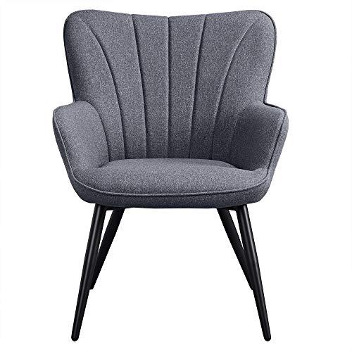 Yaheetech Sessel Relaxstuhl Gestell aus Metall/Polstersessel/Wohnzimmermöbel/Stuhl/Relaxchair / 63,5 x 68,5 x 84 cm