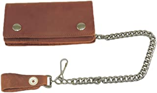 Leather Biker Billfold Chain 6