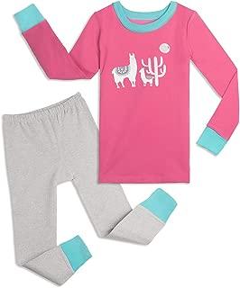 Girls' Snug-fit Pajamas, 2-Piece Organic Cotton Toddler and Kids Clothes Set
