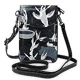 Bolso de hombro cruzado para mujer bolsa de teléfono japonés Koi Fish - Agua oscura grande titular de la tarjeta de dinero organizador bolso bolso cuero PU