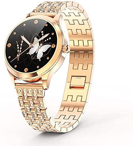 Reloj inteligente DIY dial todo acero inoxidable pulsera inteligente, moda IP68 reloj impermeable, con recordatorio inteligente, análisis del sueño-A