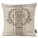 Fundas de almohada modernas vintage francés café decorativo funda de almohada Paris...