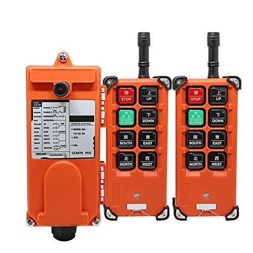 Bespick F21-e1b Sistemas de Control Remoto de Polipastos Eléctricos, 8 Botones de Operación Sistema de Control de Radio, 220V,Protección IP65