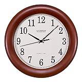La Crosse Technology WT-3122A 12.5 Inch Wood Atomic Analog Clock, 12.5', Cherry Walnut