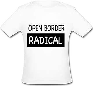 BrowneOLp Infant Tee Open Border Radical Baby Organic Short Sleeve T-Shirt White