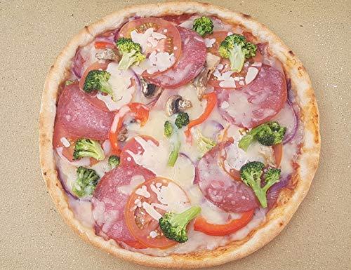 Pizzaplatte Pizzastein Bearbeitet 40 x 30 x 3 cm Backofenplatte Brotbackplatte Flammkuchenplatte deutsche Schamotte Nachbearbeitet per Hand ohne scharfe Kanten für Backofen Herd und Grill
