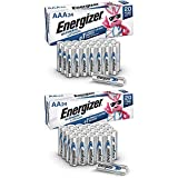 Energizer AA Lithium Batteries & AAA Lithium Batteries Combo Pack, 24 AA Lithium and 24 AAA Lithium (48 Count)