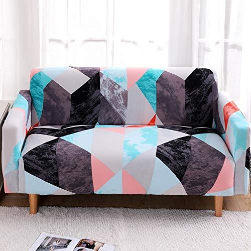 ASCV Fundas de sofá elásticas para Sala de Estar Funda elástica para sofá de Esquina seccional Fundas Antideslizantes para Muebles Funda Protectora A2 3 plazas