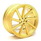 VmG-Store Vossen Style Gold Matt Felge Schlüsselanhänger - massiver Anhänger OEM VAG Dub