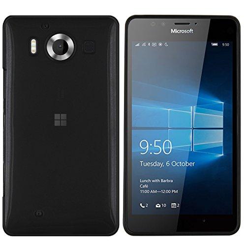 moodie Silikonhülle für Microsoft Lumia 950 Hülle in Schwarz-transparent - Hülle Schutzhülle Tasche für Microsoft Lumia 950