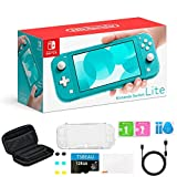 """Newest Nintendo Switch Lite Game Console, 5.5"""" LCD Touchscreen Display, Built-in Plus Control Pad, Turquoise, Bundled with TSBEAU 128GB Micro SD Card & 8 in 1 Carrying Case Cover Protector Accessories"""