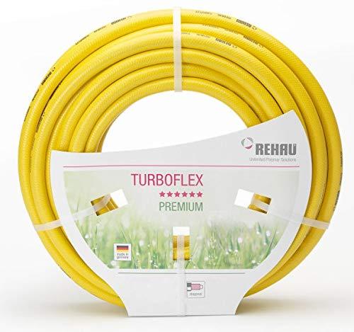 'Rehau TurboFlex Jardin Tuyau d'eau Tuyau en PVC Jaune 5/8 100 m