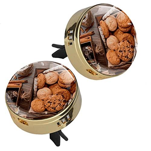 GORDESC Harina de avena y chocolate Cookiesr perfume coche ambientador de aire clip fragancia olor coche ambientador perfume difusor