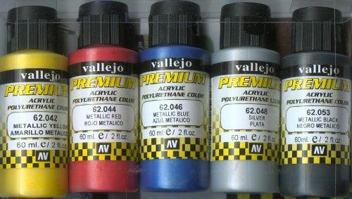 Vallejo premium color Pintura Metalizada (paquete de 5)