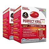 LABO Nutrition Perfect Krill EX, The Purest Ultra Strength Antarctic Krill Oil, Highest Phospholipids (56%) with Choline & Astaxanthin, Omega 3, Heart & Joint Support, 100% Made In USA, 2x 60softgels