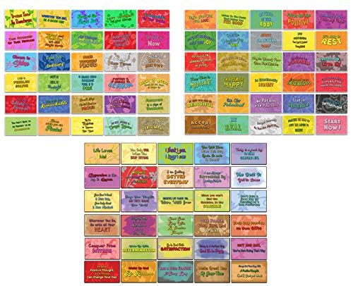 Creanoso Powerful Affirmation Cards (90-Pack) - Assorted Designs for Children - Classroom Reward Incentives for Students - Stocking Stuffers Party Favors & Giveaways for Teens & Adults