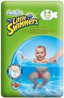 Huggies Little Swimmers wegwerp-zwemluiers voor baby's en kinderen, maat 3-4 (7-15 kg), 12 badluiers, uniseks