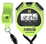 Clinch Star Stoppuhr Digital Sport Timer und Pfeife Set Wasserdicht für Schwimmen Marathon Laufen...