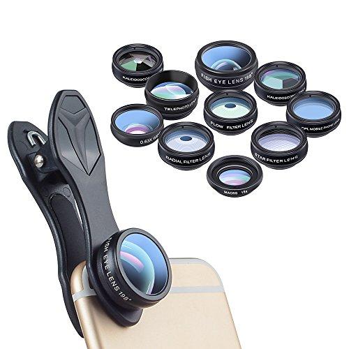 Arktis 10-in-1 Premium Objektiv Kit kompatibel mit Apple iPhone, Samsung Galaxy und Co. - Wechselobjektive
