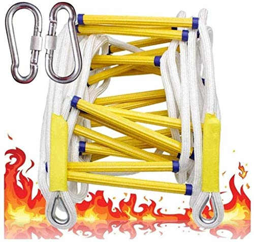 XZHSA Fire Escape Ladder Non-Slip Balcony Fire Escape Ladder Rescue Ladder-Aligned Ladder Multipurpose Ladder – Fast to Deploy & Easy to Use - Compact & Easy to Store (Size : 5M(16.4