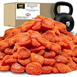 Traina Home Grown California Sun Dried Fancy Ruby Royal Apricots SEASONAL/LIMITED - Healthy, No Sugar Added, Non GMO, Gluten Free, Kosher Certified, Vegan, Value Size (5 lbs)