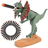 BeebeeRun Dinosaur Toys Foam Dart Gun Dilophosaurus Realistic Model Assorted Dinosaur Figures with Roaring Sound and Lights Up Eyes Gift Toy for 3 4 5 6 7 Kids Boys and Girls (Dilophosaurus Version)