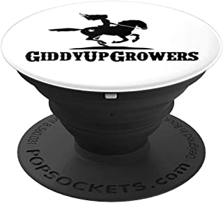 GiddyUpGrowers Logo PopSockets Grip and Stand for Phones and Tablets